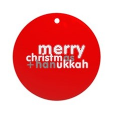 Christm(as+han)ukkah Ornament (Round)