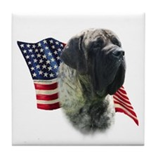 Mastiff (brn) Flag Tile Coaster
