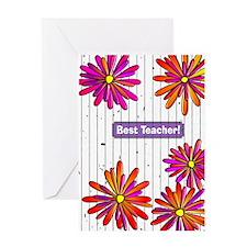 Best Teacher 2 Greeting Cards