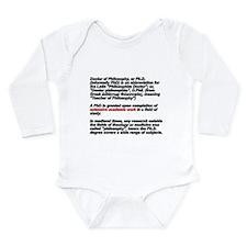 Cute Phd Long Sleeve Infant Bodysuit