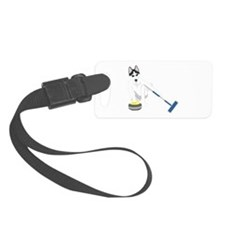 Siberian Husky Curling Luggage Tag