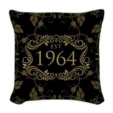 Est 1964 Birth Year Woven Throw Pillow