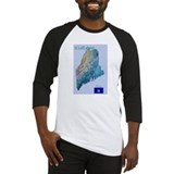 Funny Maine map Baseball Jersey