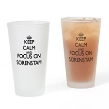 Keep calm and Focus on Sorenstam Drinking Glass