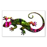 Green Purple Gecko Decal