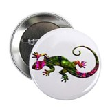 "Green Purple Gecko 2.25"" Button"