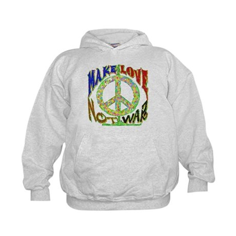 Make Love Not War Kids Hoodie