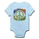 Make Love Not War Infant Bodysuit