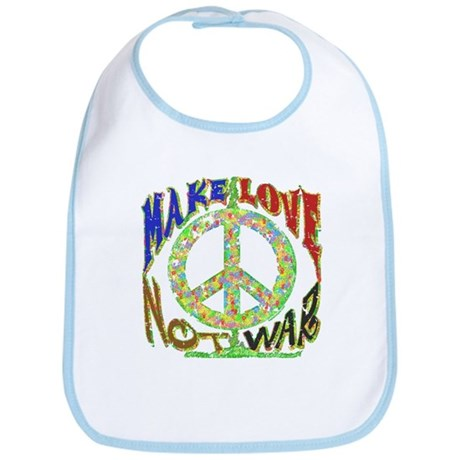 Make Love Not War Bib