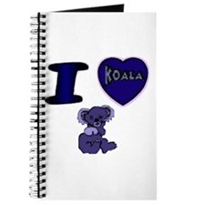 I Love ( Heart ) Koala Bears Journal