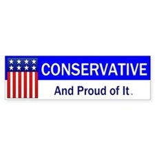 Conservative Slogan Bumper Sticker
