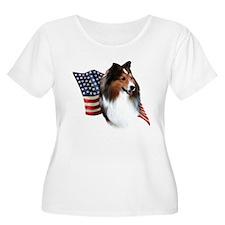 Sheltie(sbl) Flag T-Shirt