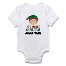 1st Christmas Elf Personalized Body Suit