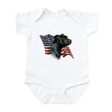 Staffy Flag Infant Bodysuit