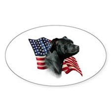 Staffy Flag Oval Decal