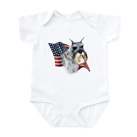 Schnauzer Flag Infant Bodysuit