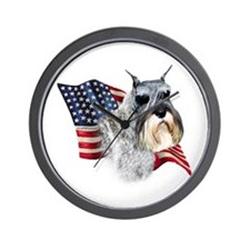 Schnauzer Flag Wall Clock