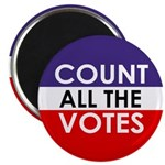 Count All The Votes Magnet (10 pack)