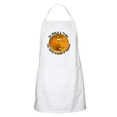 Gold Liberty Black Motto BBQ Apron
