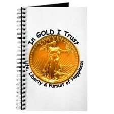 Gold Liberty Black Motto Journal