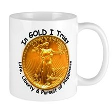 Gold Liberty Black Motto Mug