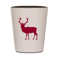 Red Deer Stag Party Shot Glass