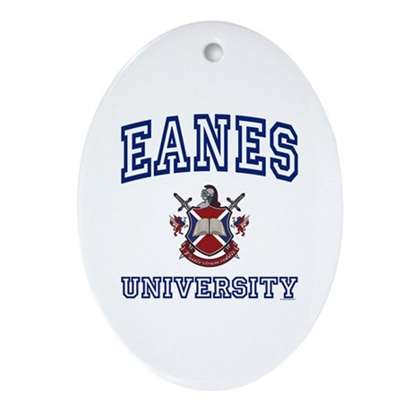 EANES University Oval Ornament