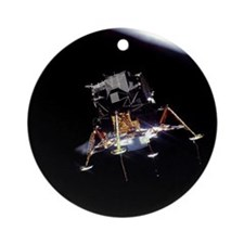Apollo 11 Eagle Christmas Tree Ornament (Round)
