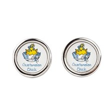 00-but-guatchick.png Round Cufflinks