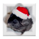 Ebony Chinchilla Tile Coaster