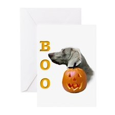 Weimaraner Boo Greeting Cards (Pk of 10)