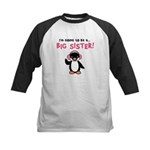 Big Sister to be - Penguin Kids Baseball Jersey