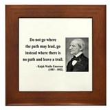 Ralph Waldo Emerson 3 Framed Tile