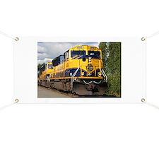 Alaska Railroad engine locomotive Banner