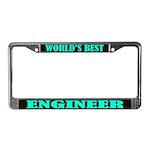 World's Best Engineer License Plate Frame