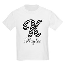Monogram K Your Name Custom T-Shirt