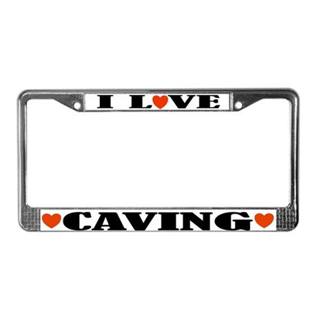 I Love Caving License Plate Frame