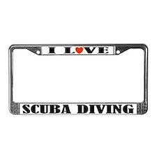 Scuba Diving License Plate Frame