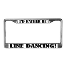 Line Dancing License Plate Frame