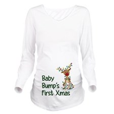 Baby Bump's First Xmas Long Sleeve Maternity T-Shi