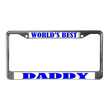 Best Daddy License Plate Frame