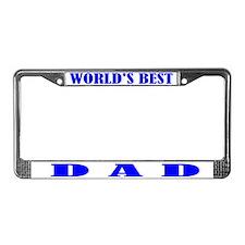 Best Dad License Plate Frame
