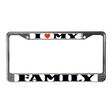 Love My Family License Plate Frame