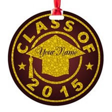 Garnet Class Of 2015 Graduation Ornament