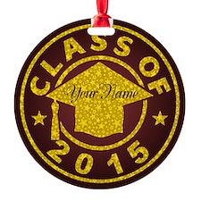 Garnet Class Of 2015 Graduation Round Ornament