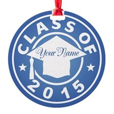 Aquamarine Class Of 2015 Graduation Ornament