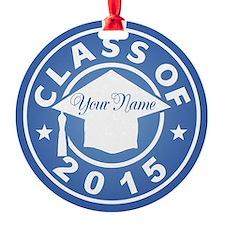 Aquamarine Class Of 2015 Graduation Round Ornament