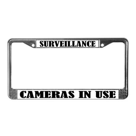 Funny Surveillance Camera License Plate Frame