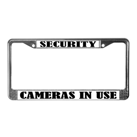 Funny Security Camera License Plate Frame