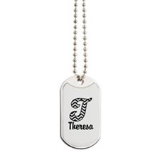 Monogram T Your Name Custom Dog Tags